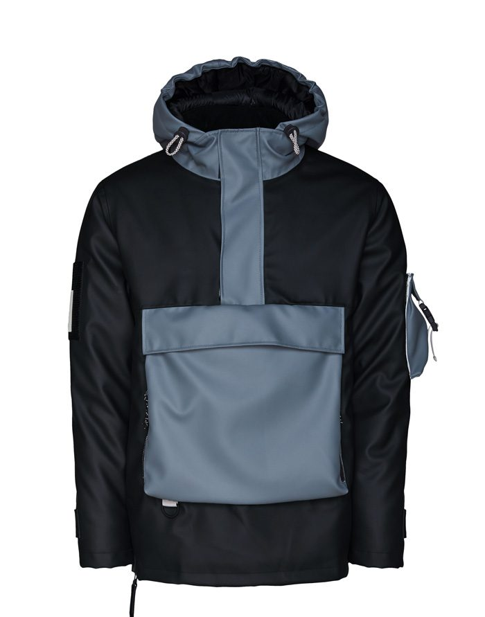 Rains Outerwear Winter coats and jackets Glacial Anorak Black/Slate 1539-37